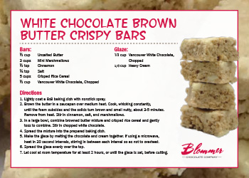 White Chocolate Crsipy Bars Recipe